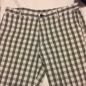 Dickies Black/White Patterned Flat Front Shorts